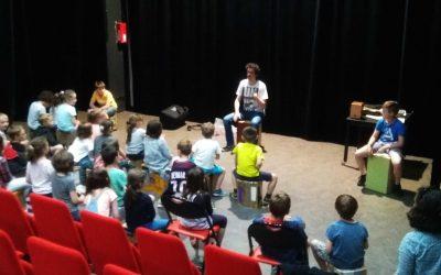 Présentation du Cajon aux élèves de l'école primaire de Songeons